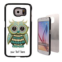 Personalized Case - Lovely Owl Design Metal Case for Samsung Galaxy S6/ S6 edge/ note 5/ A8 and others