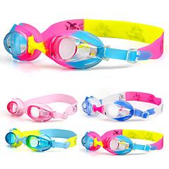 Úszás Goggles Páramentesítő Vízálló Szilícium-dioxid gél Akril Kék Rózsaszín Átlátszó Világoskék