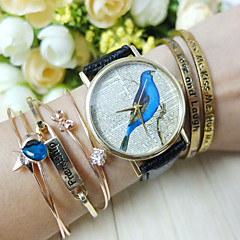Women's Bird Style PU Band Quartz Analog Wrist Watch (Assorted Colors) Cool Watches Unique Watches