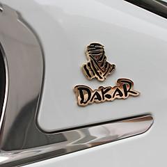 etiqueta engomada del metal 3d Rally Dakar insignia de carreras populares de alta calidad pegatinas de decoración de coche coche reinstala