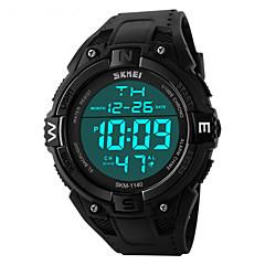 SKMEI Αντρικά Αθλητικό Ρολόι Ρολόι Καρπού Ψηφιακό LED Ημερολόγιο Χρονογράφος Ανθεκτικό στο Νερό συναγερμού Αθλητικό Ρολόι PU Μπάντα Μαύρο