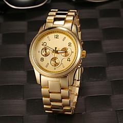 Женские Модные часы Кварцевый Нержавеющая сталь Группа Серебристый металл / Золотистый / Розовое золото бренд-