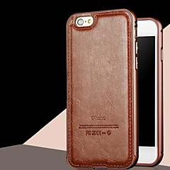 lusso hzbyc®new del cuoio genuino per il metallo integrata caso della struttura per Apple iPhone 5 / 5s (colori assortiti)