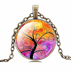 HUALUO®Cheap Retro Time Gem Tree of Life Necklace