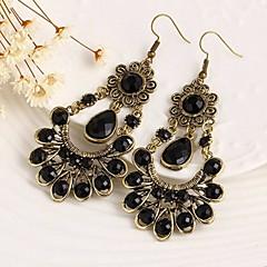 European Style Gold Plated Resin Flower Elegant Earring