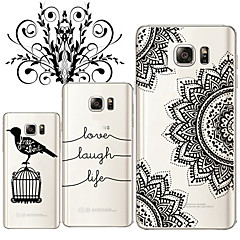 Για Samsung Galaxy Note Διαφανής tok Πίσω Κάλυμμα tok Ασπρόμαυρο TPU Samsung Note 5