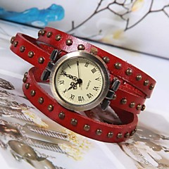 Punk Style Three Circle Shape Alloy Leather Bracelet Watch(Three Colors)(1Pc) Cool Watches Unique Watches