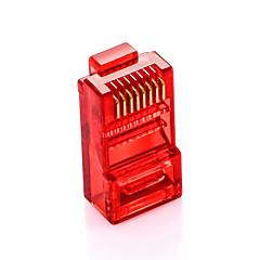 Shengwei® RC-3100 Multicolor RJ45 Plug Cat5e Plug  100Pcs for Internet Connection Interface (Red Blue Green Orange)
