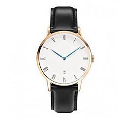 Британская стол любителей моды минималистский масштаб ретро одного календарного набором случайных кожа кварцевые часы