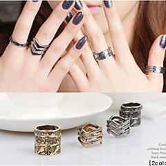 Pierścionki na palec środkowy,Biżuteria Złoty Korygujący Impreza / Codzienny / Casual Stop 1set,Regulacja Damskie