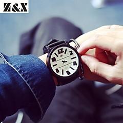 Masculino Relógio Esportivo Quartzo Silicone Banda Preta Branco Preto
