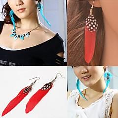 European Style Multicolor Feather Drop Earring(Random Color)