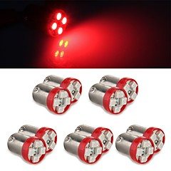 10*1156 BAS9  Red color 4 0.2W LED for Reverse Backup Turn Light Bulb Lamp Foglight