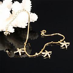 Starfish Ms Fashion Elegant 18 K Gold Zircon Bracelets