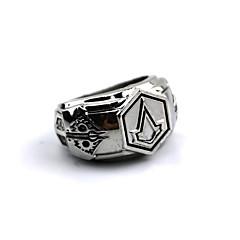 Smykker Inspireret af Assassin's Creed Connor Anime / Videospil Cosplay Tilbehør Ring Sølv Legering Mand