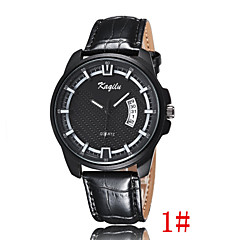 The New Men's Business Casual Leather Belt Simple Dial Watch Waterproof Calendar Wrist Watch Cool Watch Unique Watch