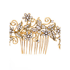 Gold Plated Hairpins Crystals Rhinestone Hair Combs Wedding Hair Jewelry Accessories