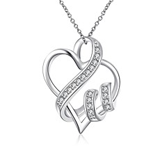 Daniel Wellington 925 sterling silver Hollow Heart with Zircon medal pendant cremation jewelry