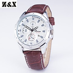 Men's Fashion Personality Leather Quartz Analog Bracelet Military Watch(Assorted Colors) Cool Watch Unique Watch