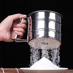 Stainless Steel Mesh Flour Sifter Mechanical Baking Icing Sugar Shaker Sieve Tool Cup Shape