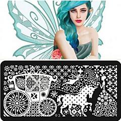 1Pcs Hot Plate Printing Template Manicure Supplies DIY Nail 12 Optional Rectangular Blue Film