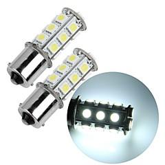 2 * 1156 BA15s bil hale-stop parkeringsbremse backup pære 5050smd hvidt 18 LED lys 12v