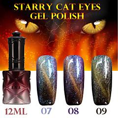 1stk ana stjerneklar kat øjne farve gel 12ml 12colors langtidsholdbare neglelak 7-9