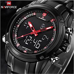Hommes Bracelet Montre Quartz Japonais LCD / Calendrier / Chronographe / Etanche / Double Fuseaux Horaires / penggera Acier Inoxydable