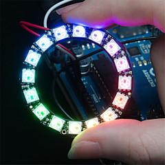 ws2812 5050 RGB 16-γύρο οδήγησε στην ανάπτυξη του συμβουλίου λάμπα - μαύρο