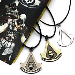 Mücevher Esinlenen Assassin's Creed Connor Anime / Video Oyunları Cosplay Aksesuarları Kolyeler Siyah / Sarı / Gümüş Alaşım Erkek