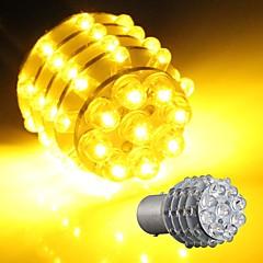 2* Car 1157 BA15S Turn Signal Parking Tail Bulb Lamp Yellow 45 LED Light 12V