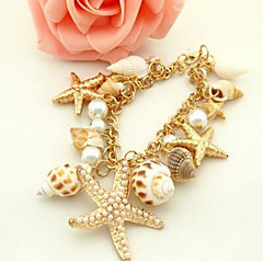 Starfish Shell Alloy / Cowry Bracelet Chain & Link Bracelets Daily / Casual 1pc