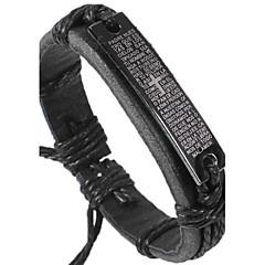 Herre ID Armbånd Læder Armbånd kostume smykker Læder Stof Smykker Til Daglig