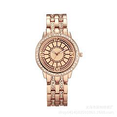 Dames Modieus horloge Kwarts Chronograaf Roestvrij staal Band Zilver / Goud / Goud Rose Merk-