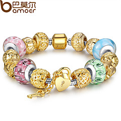 Luxury Charms Beads Fit  Bracelet With Gold Plated Charm And Beads Fashion Pulseiras For Women