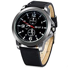 IE-LY Decorative Sub-dials Denim Band Quartz Watch for Men Wrist Watch Cool Watch Unique Watch