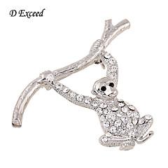 Női Ezüstözött Üveg utánzat Diamond Ötvözet Divat Ezüst Ékszerek Esküvő Parti Napi Hétköznapi
