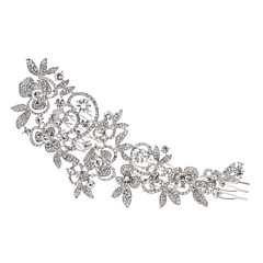 Large Hairpins Flower Hair Combs Rhinestone Crystals Hair Clips Bridal Wedding Hair Jewelry