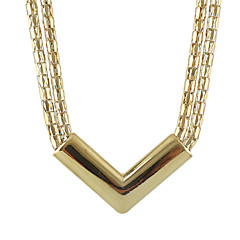 Gold Plated Wide Chain Necklace for Women