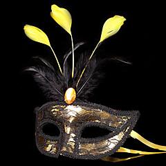 Maszk Álarcosbál Angel & Devil Fesztivál/ünnepek Mindszentek napi kösztümök Aranyozott+Fekete Kollázs Maszk Mindszentek napja Farsang
