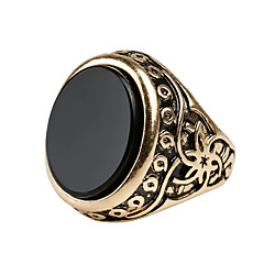Men's Retro Ethnic style Carved Alloy Jewels Ring 03A