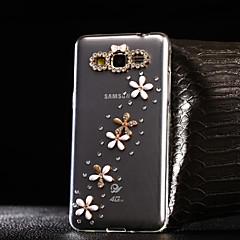 Na Samsung Galaxy Etui Stras / Przezroczyste Kılıf Etui na tył Kılıf Kwiat TPU Samsung A7(2016) / A5(2016) / A3(2016) / A8 / A7 / A5 / A3