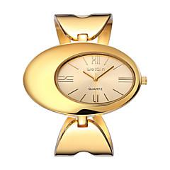 Damen Modeuhr Armband-Uhr Wasserdicht Quartz Legierung Band Elegante Luxuriös Gold