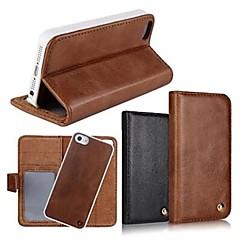 2 az 1-ben kiváló minőségű valódi bőr pénztárca esetén állvánnyal fedezetet iPhone 4 / 4S (vegyes színek)