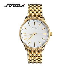 SINOBI Męskie Zegarek na nadgarstek Kwarcowy Wodoszczelny Sportowy Pokryte różowym złotem Stop Pasmo Złoty Golden