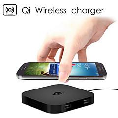 qi trådløse oplader pad 2 USB-porte til samsung / htc / lg
