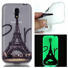 Mert Samsung Galaxy tok Foszforeszkáló Case Hátlap Case Eiffel torony TPU Samsung S6 edge plus / S6 / S5 / S4 Mini / S3