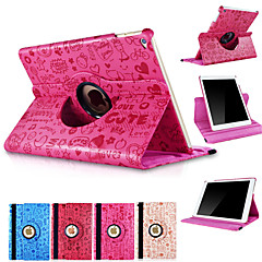 360 Degree Rotating Cute Cartoon PU Leather Stand Smart Sleep Wake Cover Case For iPad Air (Assorted Colors)