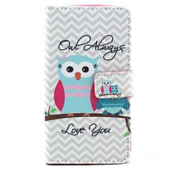 aina rakastamaan pöllö kuvio PU nahka stand korttipaikka kotelo LG bello d337