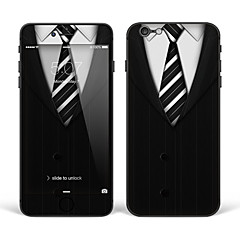 "iPhone 6 Plus/6S Plus Body Art Skin Sticker: ""Black and White Suit Tie"" (Creative Series)"